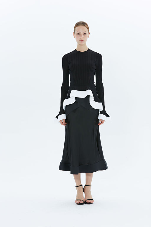 Contrast Circle Skirt