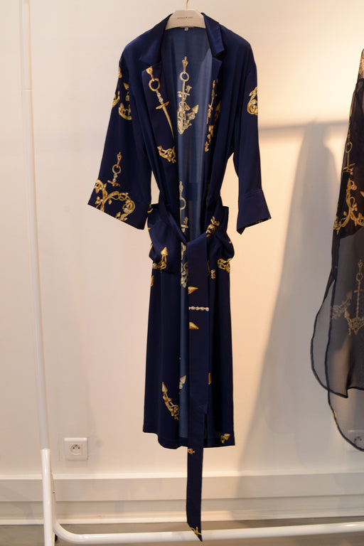 Silk Sailors Maxi Robe