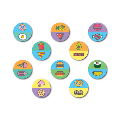 Food-Themed Racquet Butt Cap Stickers