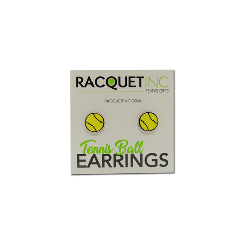 Flat Tennis Ball Earrings - Racquet Inc Tennis Gifts