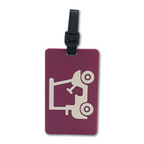 Golf Bag Tag - Magenta Golf Cart