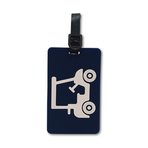 Golf Bag Tag - Navy Blue Golf Cart