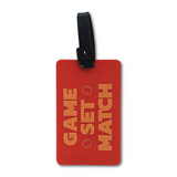 Orange Game Set Match Tennis Bag Tag