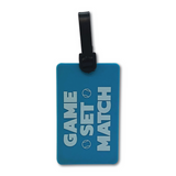 Blue Game Set Match Tennis Bag Tag