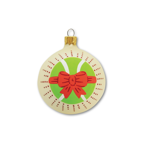 Tennis Ball Bow - Tennis Holiday Ornament - Racquet Inc Tennis Gifts