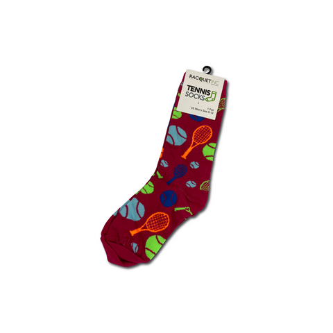 Men's Tennis Dress Socks - Hot Pink