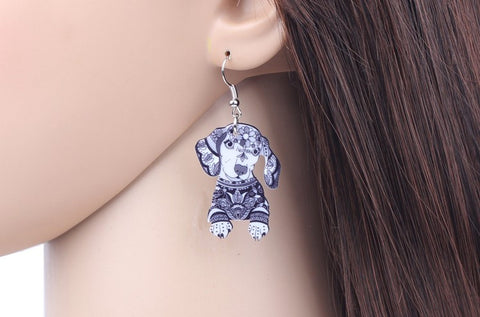 Dachshund Drop Earrings