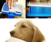 Image of Blue Pet Brush with Automatic Hair Release