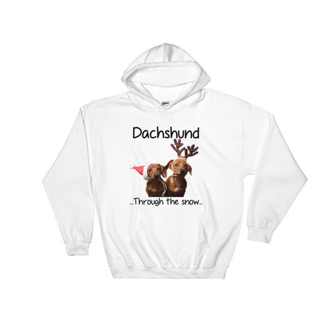 Dachshund Through The Snow Hooded Sweatshirt