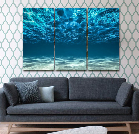 Beautiful 'Blue Ocean' Wall Art