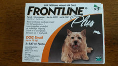 FRONTLINE Plus Orange small dog 3 Pack for dogs 0-22 lbs New In Box