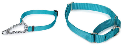 Martingale Collars for Dogs, Nylon or Chain, 6 colors, 3 sizes, Choke