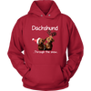 Image of Dachshund Through The Snow Unisex Hoodie