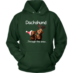 Dachshund Through The Snow Unisex Hoodie