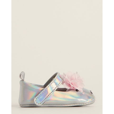Silver Unicorn Mary Jane Flats