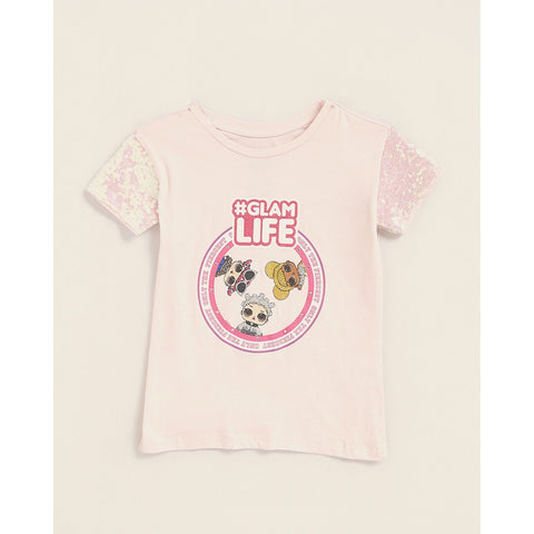 Sequin Glam Life Short Sleeve Tee