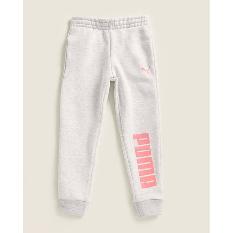 White Heather Glitter Logo Joggers