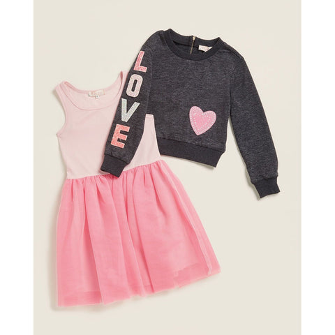 Love Sleeve Tutu Skirt 2fer Dress