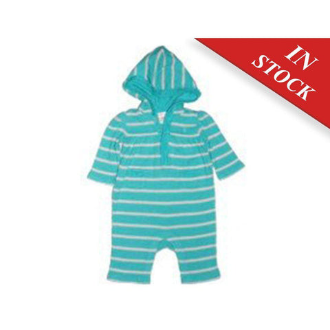 Ralph Lauren Infant Striped Hooded Coverall