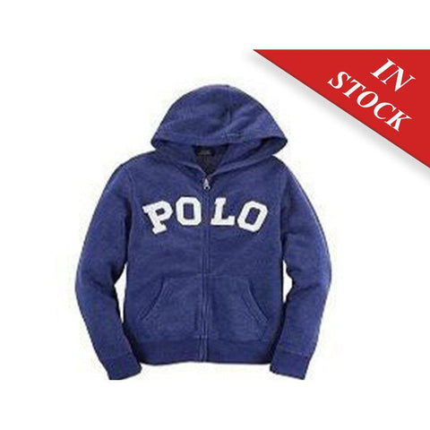 Ralph Lauren Polo Boys Full Zip Logo Jacket Hoodie Sweatshirt