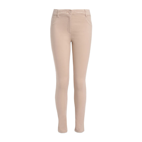 Sateen Skinny Uniform Pants