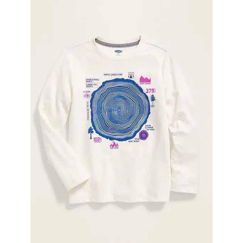 Graphic Crew-Neck Long-Sleeve Tee for Boys