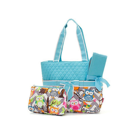 Owl Print Fashion Design Quilted  Diaper Bag