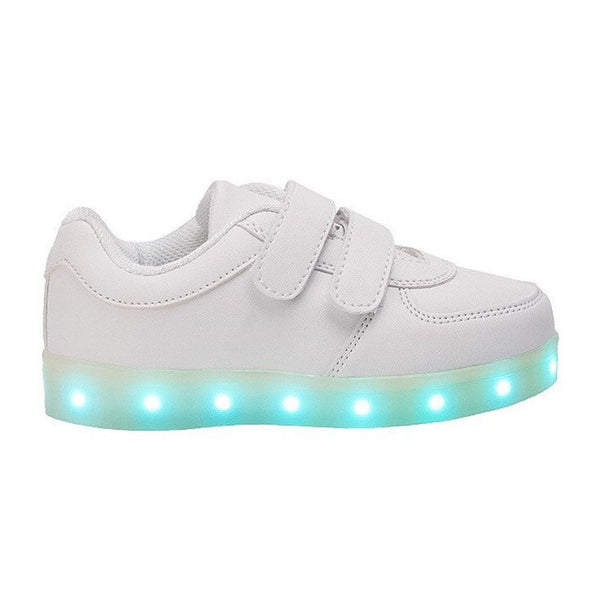 Eslla Unisex USB Charging Light Up Shoes for Toddler and Little Kid