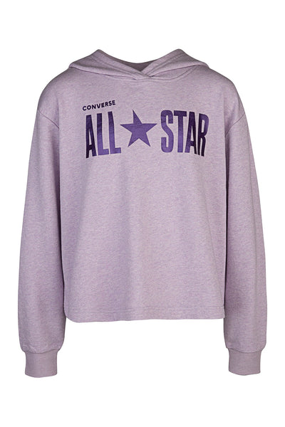 Sparkle French Terry Boxy Pullover Hoodie