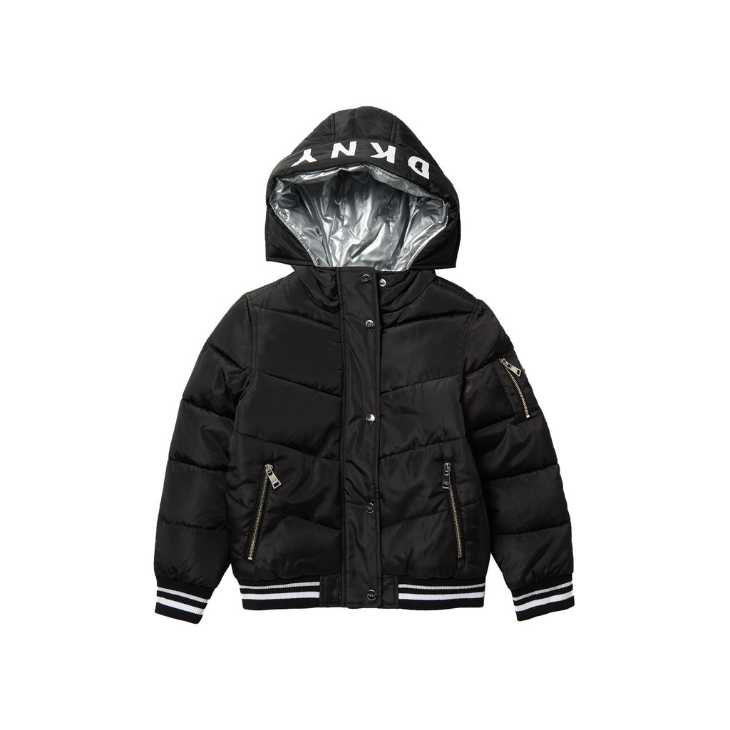 Rib Bottom Puffer Jacket