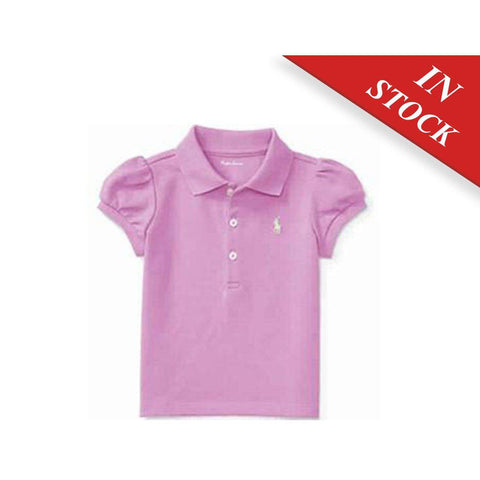 Puff-Sleeve Cotton Polo Shirt