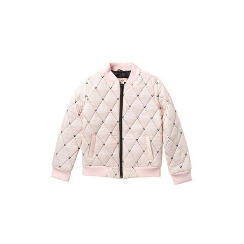 Logo Quilted Bomber Jacket