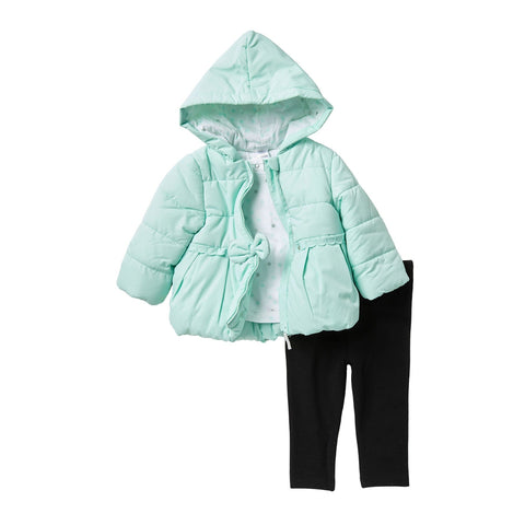 3-Piece Puffer Jacket & Legging Set