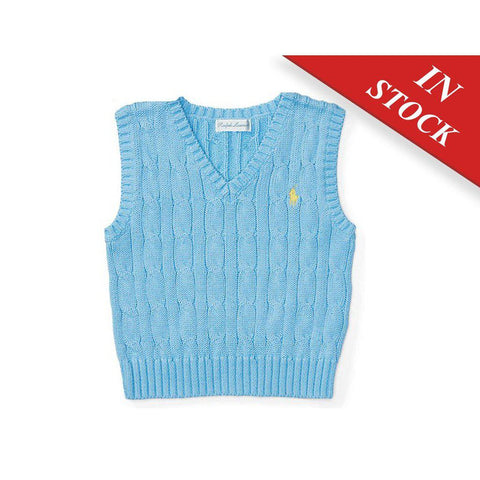 Cable-Knit Cotton Sweater Vest - BABYJOX