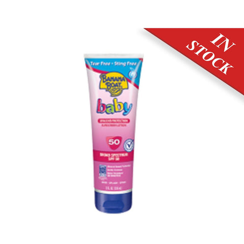 Banana Boat Baby Sunscreen Tear-Free Sting-Free Broad Spectrum Sun Care Sunscreen Lotion - SPF 50, 8 Ounce - BABYJOX