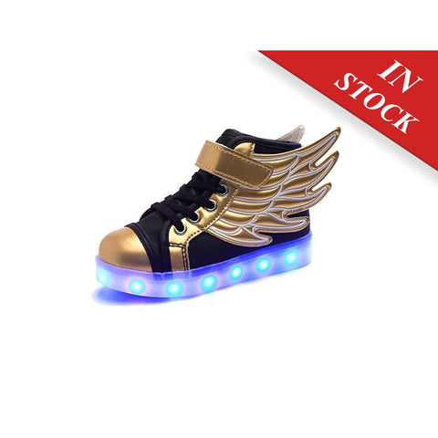 0079a17dac68 SLEVEL LED Light Up Shoes USB Flashing Sneakers for Kids Boys Girls