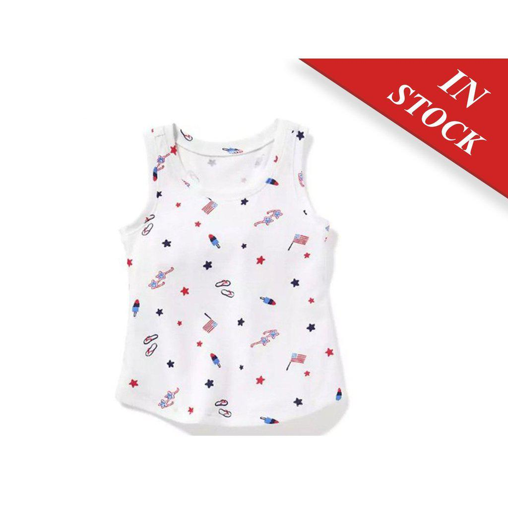 Printed Jersey Tank For Toddler Girls