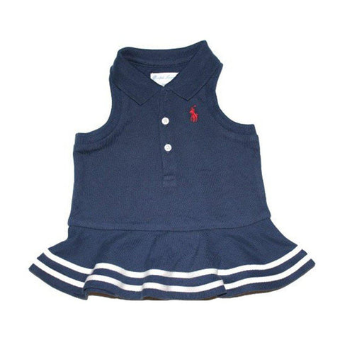 Ralph Lauren Baby Girls 2-Piece Embroidered Polo Dress, Rustic Navy