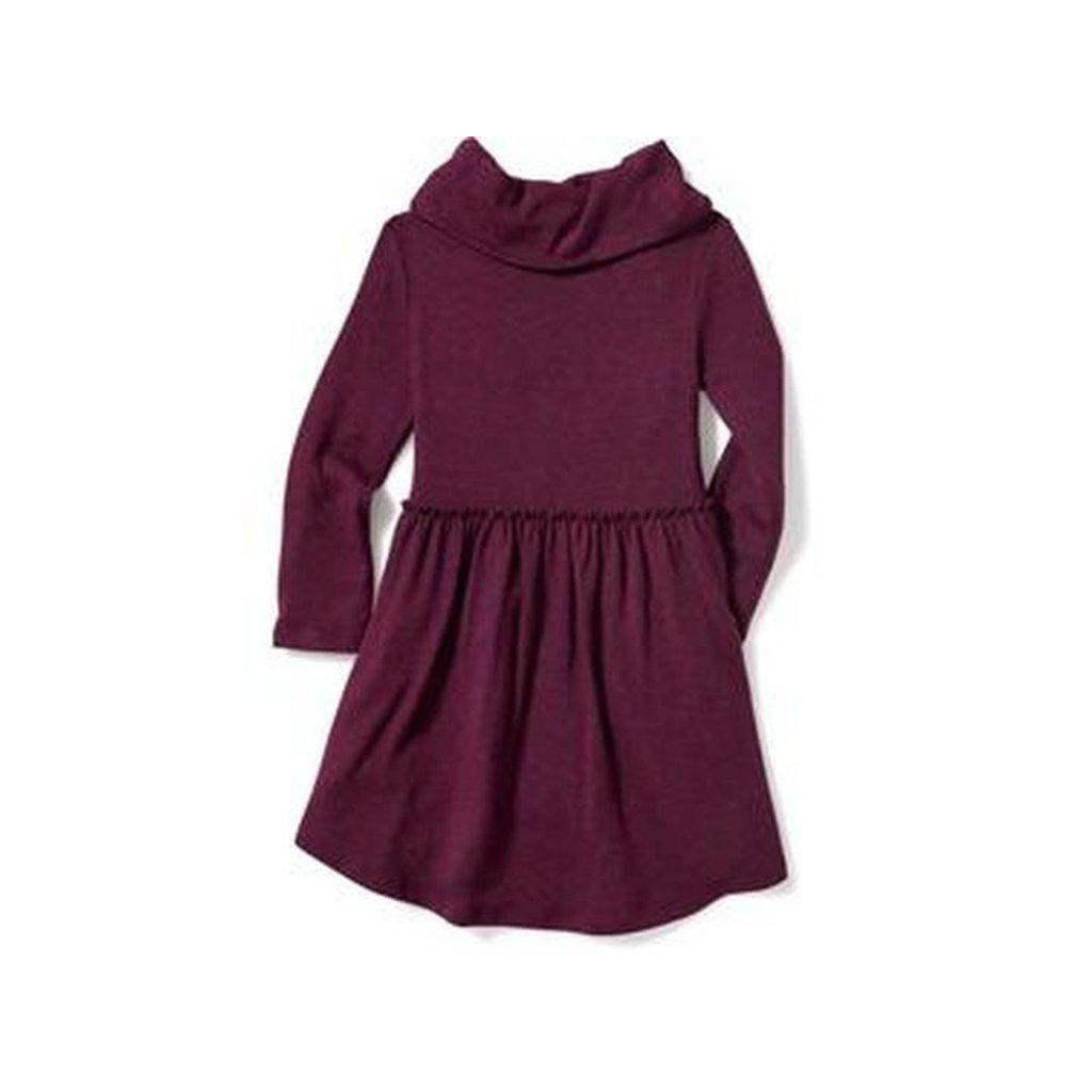 Fit & Flare Cowl-Neck Dress Toddler Girls