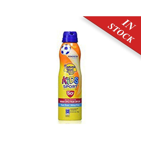 Banana Boat Kids Sport Tear-Free, Sting-Free Broad Spectrum Sunscreen Lotion Spray, SPF 50+, 1.8 oz - BABYJOX