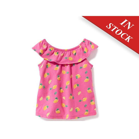Printed Ruffle-Trim Top For Toddler