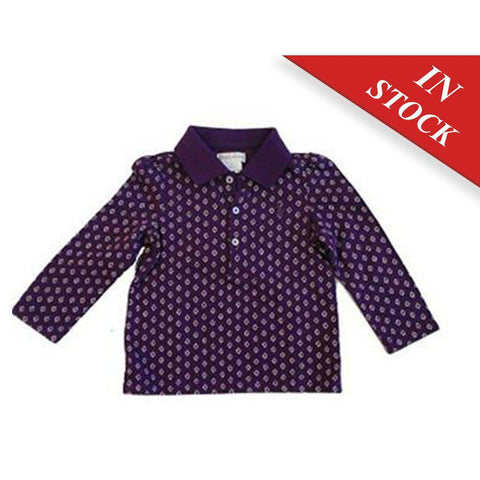 Ralph Lauren Baby Girls Floral Print Cotton Polo Shirt