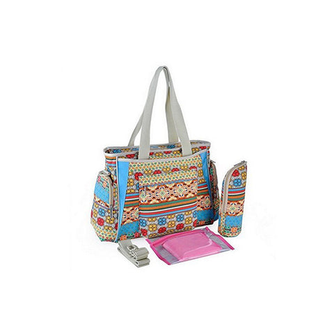 Zacoro Multifunctional Bohemian Canvas Mom Bag