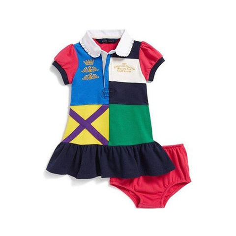 Polo Ralph Lauren Little Girls' Color-blocked Rugby Polo Dress