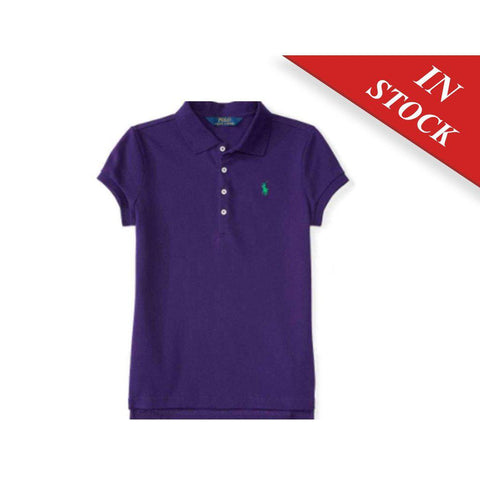 Stretch Cotton Polo Shirt - College Purple
