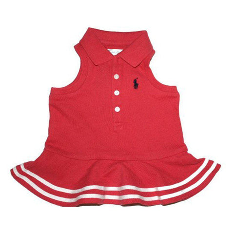 Ralph Lauren Baby Girls, Embroidered Polo Dress, Weathe Red