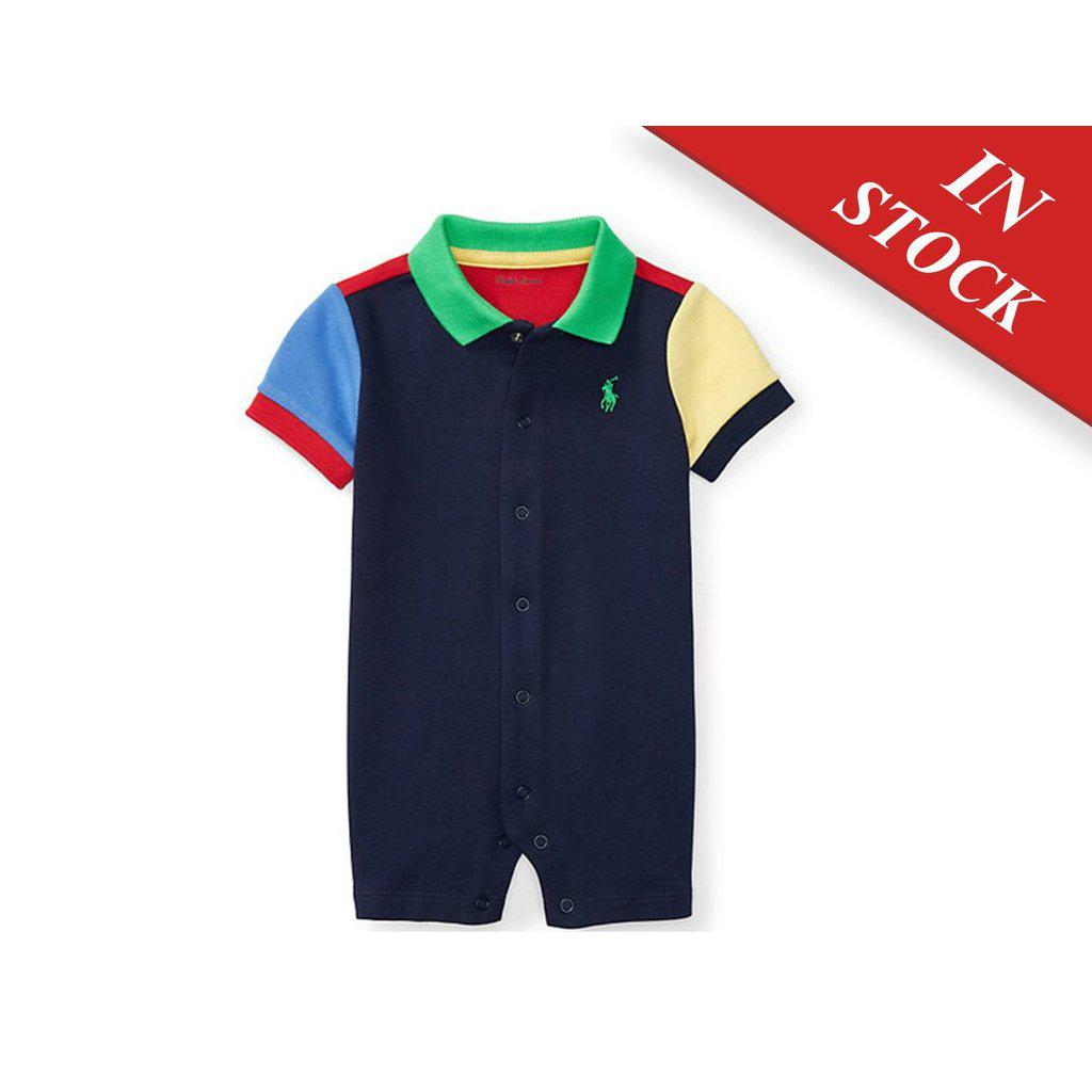 Color-Blocked Cotton Shortall - BABYJOX