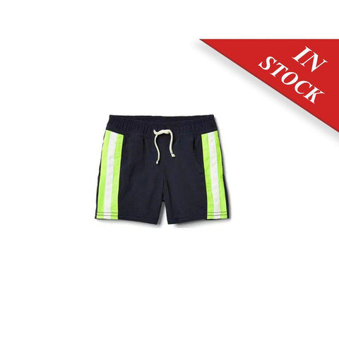Side-Stripe Swim Trunks
