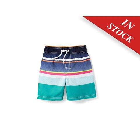 Striped Swim Trunks For Toddler
