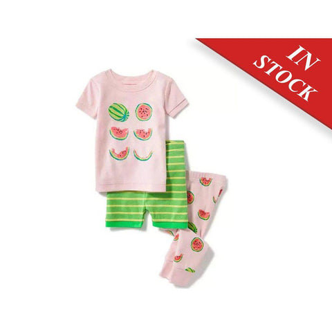 Watermelon-Graphic 3-Piece Sleep Set For Toddler